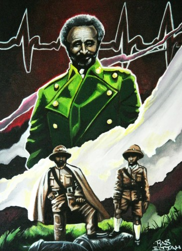 Selassie and Son on bomb