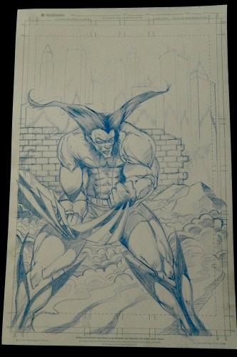Wolverine Blue pencils for others to ink and portfolio.
