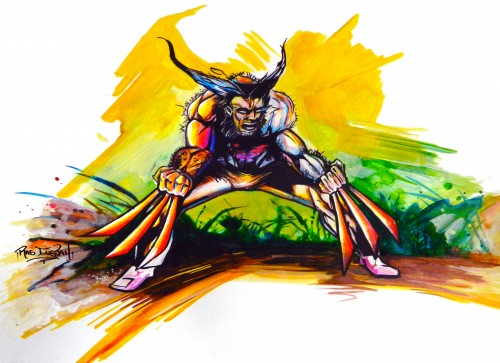 Wolverine in Hand painted Color