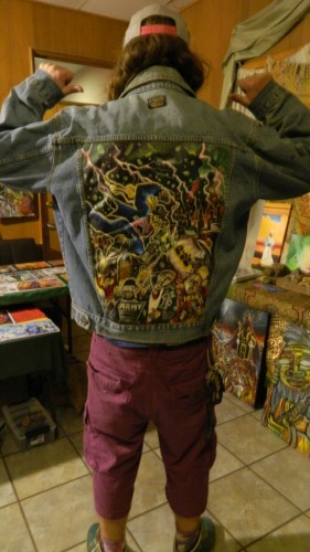 personalized painted jacket for Thor.
