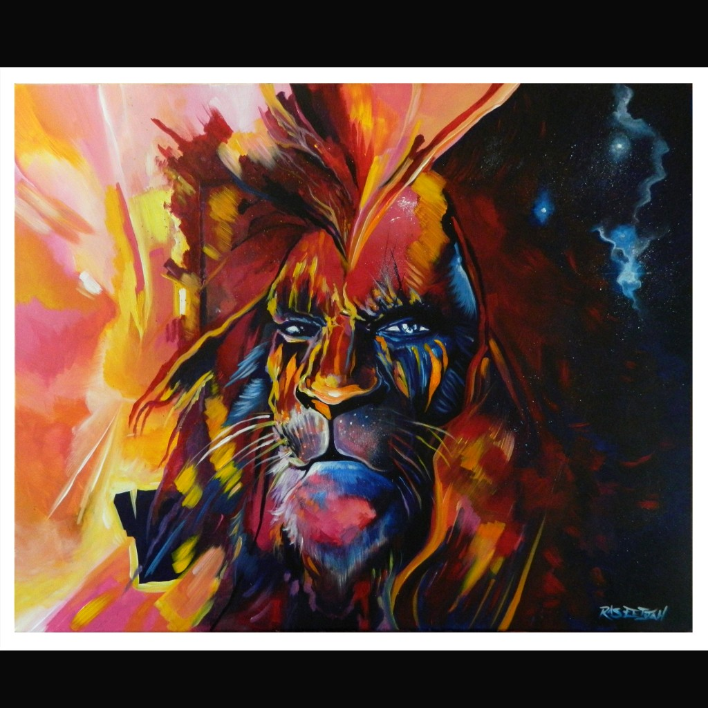 Lion Stare Down Art Abstract